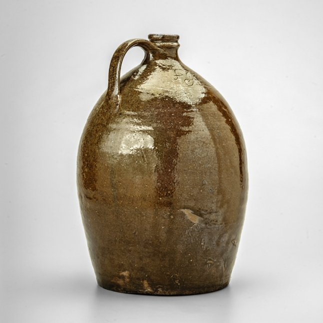 Jug made by Lucius Jordan, collection of the Museum of Early Southern Decorative Arts.